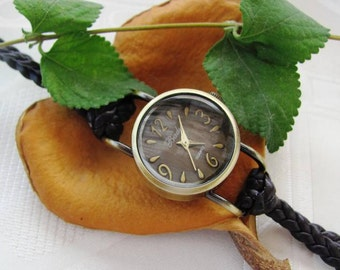 Handmade Bracelet Wrap Bronze Watch - 2016 New Orlogin Style Design  FREE SHIPPING