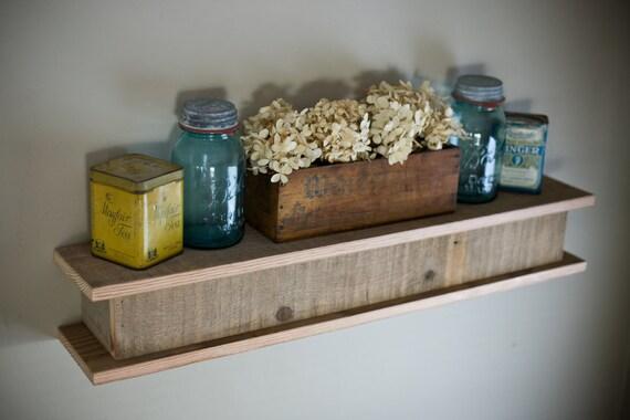 Floating Shelf made from Reclaimed Barnwood