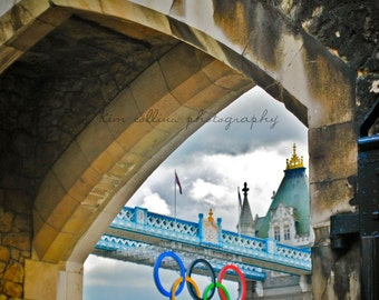 View of Tower Bridge of London,England-Fine Art Photo-Mulitple Sizes Avail,Travel,London Bridge,architecture,Olympic Rings,Tower of London