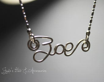 Wire art/ personalised name necklace - Zoe