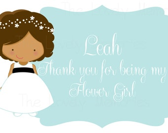 Will you be my flower girl card or Thank you for being my flower girl card- DIY Printable