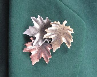 Maple Leaves Brooch- Leaves Jewelry- Fall Leaves- Autumn Leaves