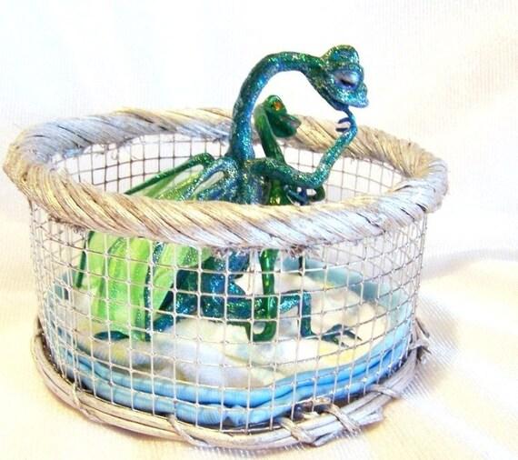 Baby Dragon in Playpen - Timeout: Dragon Art Doll
