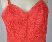 Vanity Fair Slip,  Red Slip, 1950's Slip Dress Size 36