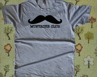 Mustache Club T Shirt