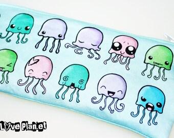 JellyMeme Jellyfish Zipper Purse Pouch - Cosmetic Pencil Wallet - ReLove Plan.et