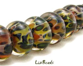 SRA Handcrafted Borosilicate Artisan Lampwork Bead Set - AUTUMN ESSENCE