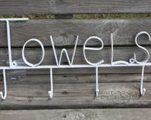 PICK YOUR COLOR Shabby Chic/ Paris Apartment/ Cottage Chic Towel Hook in White