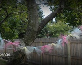 Tied Tulle Garland Set of 2