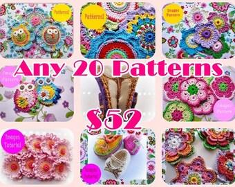 Pick  20 Crochet Patterns