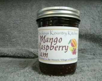 Homemade Mango Raspberry Jam, Hancrafted,Deliciously Sweet, jam & jelly