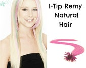Fusion I-Tip Remy Hi-Light Extension--Baby Pink