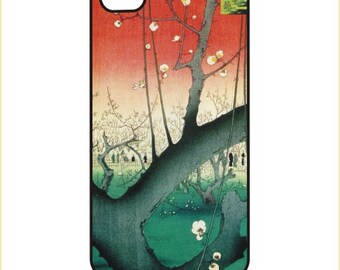 Hiroshige - The Plum Garden in Kameido - iPhone / Android Phone Case / Cover  - iPhone 4 / 4s, 5 / 5s, 6 / 6 Plus, Samsung Galaxy s4, s5