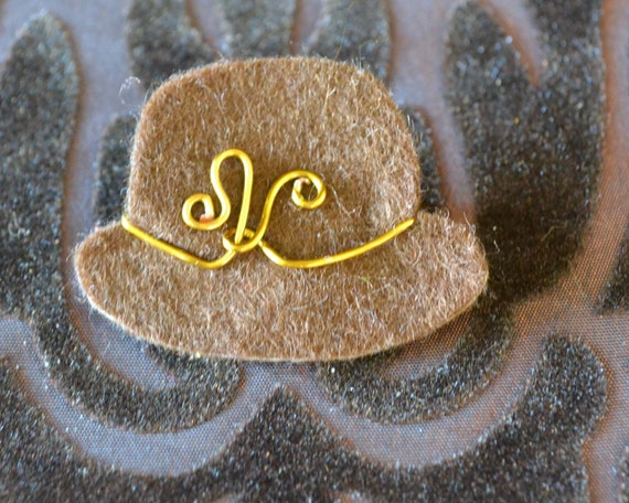 SALE Felt Hat Brooch 2 - Mothers Day Gift  - Vintage inspired badge/ pin/ brooch