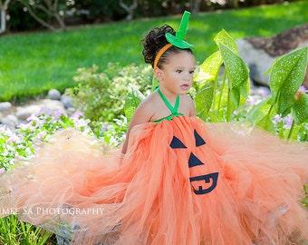 Halloween,  Boutique Style Pumpkin Face OTT Tutu Dress 3, 6,9,12, 24 month, sizes 2, 3, 4, 5, 6