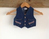 Vintage Billy The Kid Denim Vest