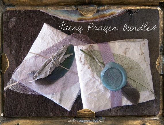 FAERY PRAYER BUNDLE, Despacho, Offering to the Nature Spirits, Custom Created for Protection, Prosperity, Break Hexes, Destroy Curses