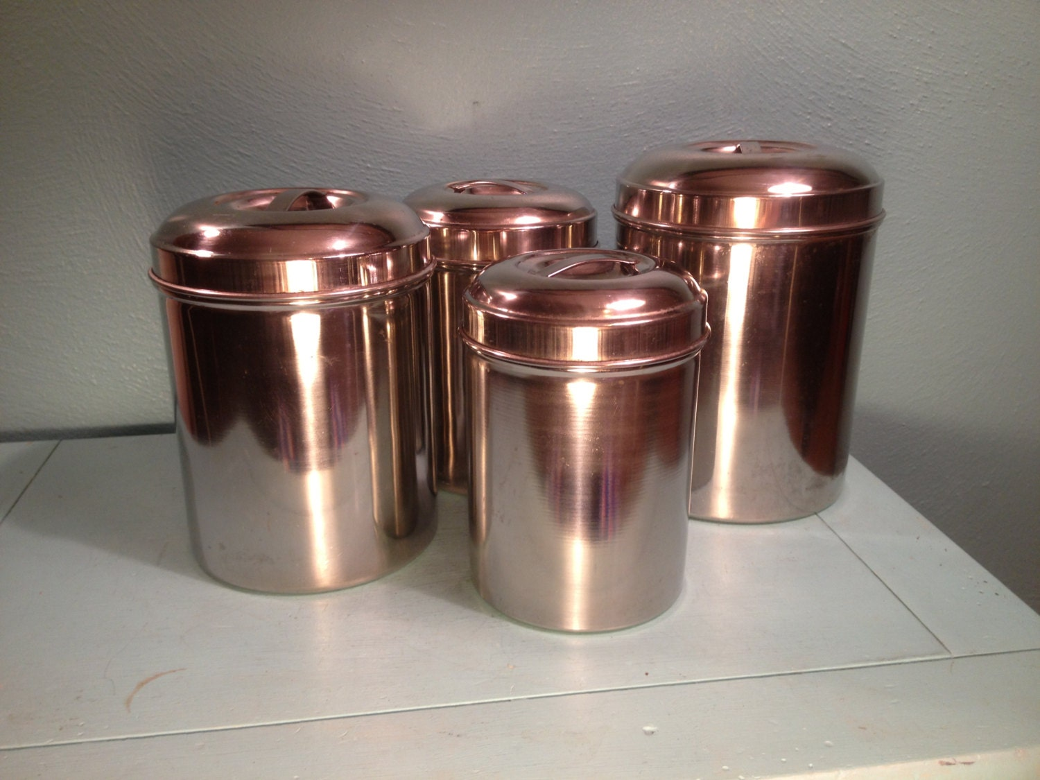 Stainless Steel Canister Set Free Shipping By Andantiques