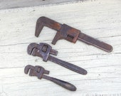 Vintage Wrench Set Monkey Wrench Adjustable Industrial Steampunk Instant Collection