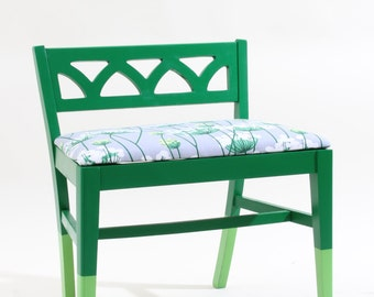 Refurbished Vintage Green Chair Stool