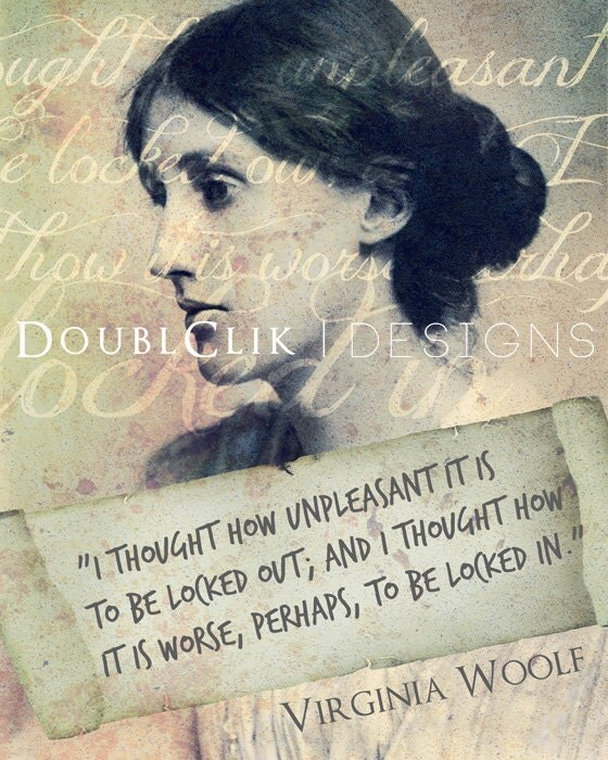 Virginia Woolf Famous Quotes: Virginia Woolf Poster