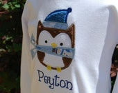 Personalized Winter Owl Tee