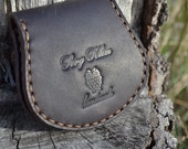 Purse - Leather purse -  Pouch for coins -  Dark Brown