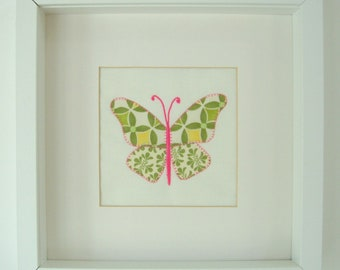 BUTTERFLY APPLIQUE PICTURE