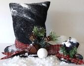 snowman hat, Winter decor, vintage Christmas decor, Sewing E Pattern Frosty Snow Man Hat pattern