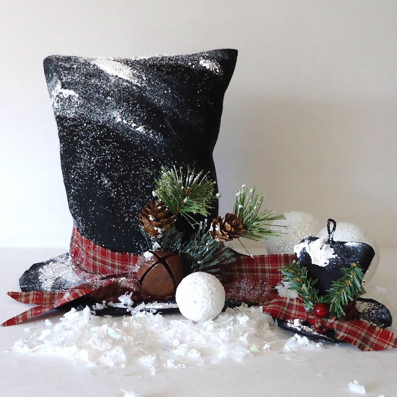 snowman tree topper hat pattern winter decor tophat vintage. Black Bedroom Furniture Sets. Home Design Ideas
