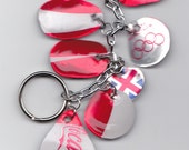 Coke a Cola's Olympic tribute keychain lightweight recycled