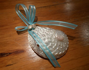 Beach Decor Abalone Shell Ornament - Shell Christmas Ornament - Ornament - Seashells - Beach -- Beach Wedding