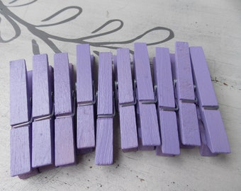 soft purple clothespins