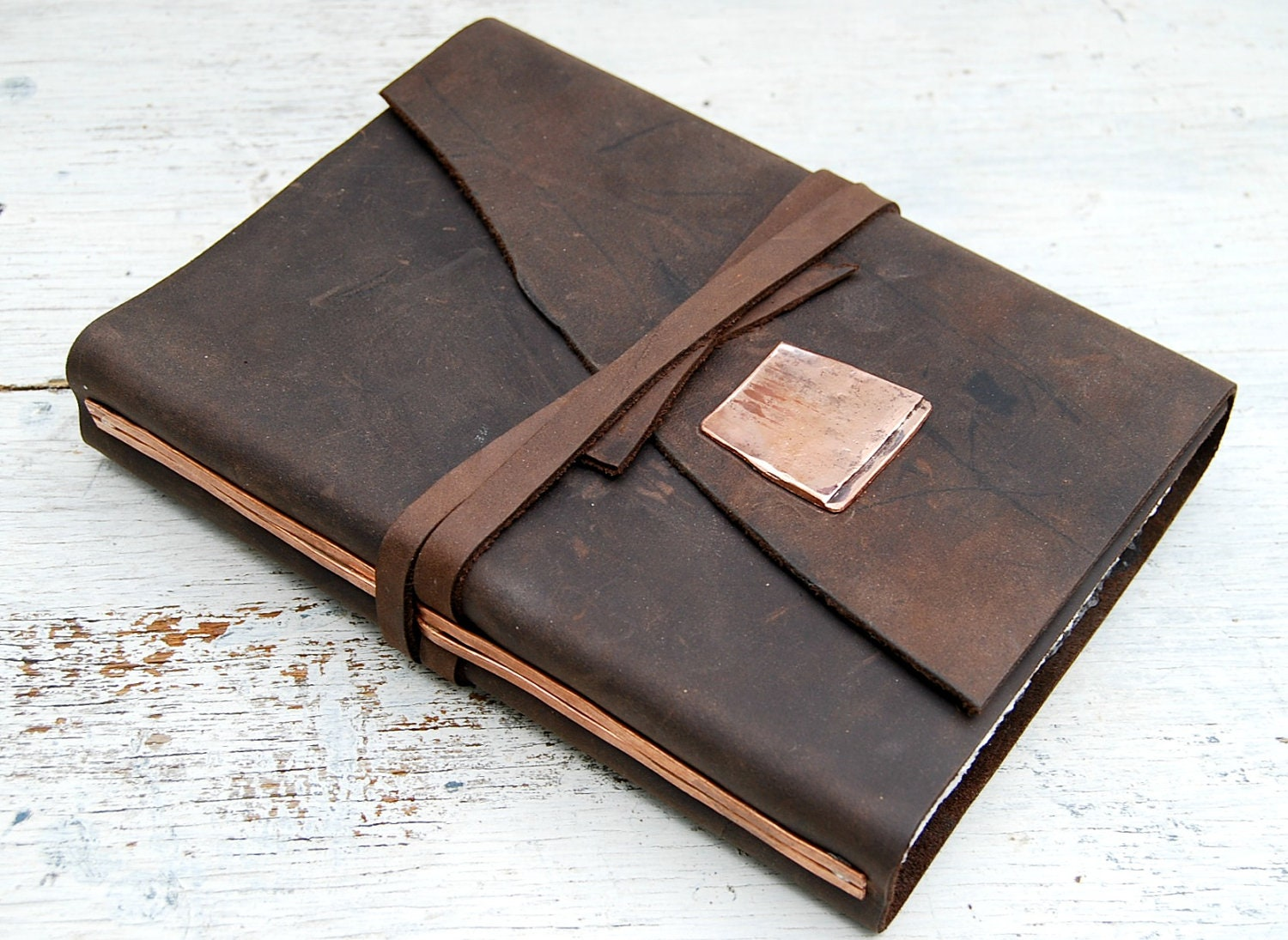 Leather bound writing journal