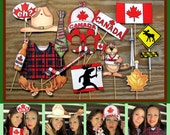 Canada Photo Booth Props - perfect for celebrating Canada Day or Canada in style, or your Canadian forrest moose party