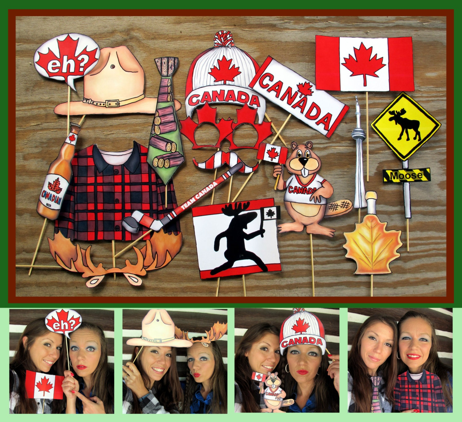 Canada Photo Booth Props Perfect For Celebrating Canada Day