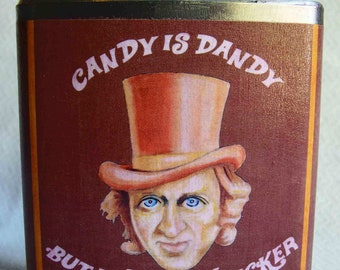 Wonka Flask, Funny Gift, Humor, Funny Art, Whisky, Gift for Him, Gift for Her, Candy is Dandy But Liquor is Quicker