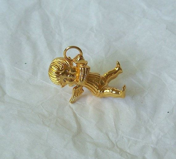 Franklin Mint Littlest Angel Pendant