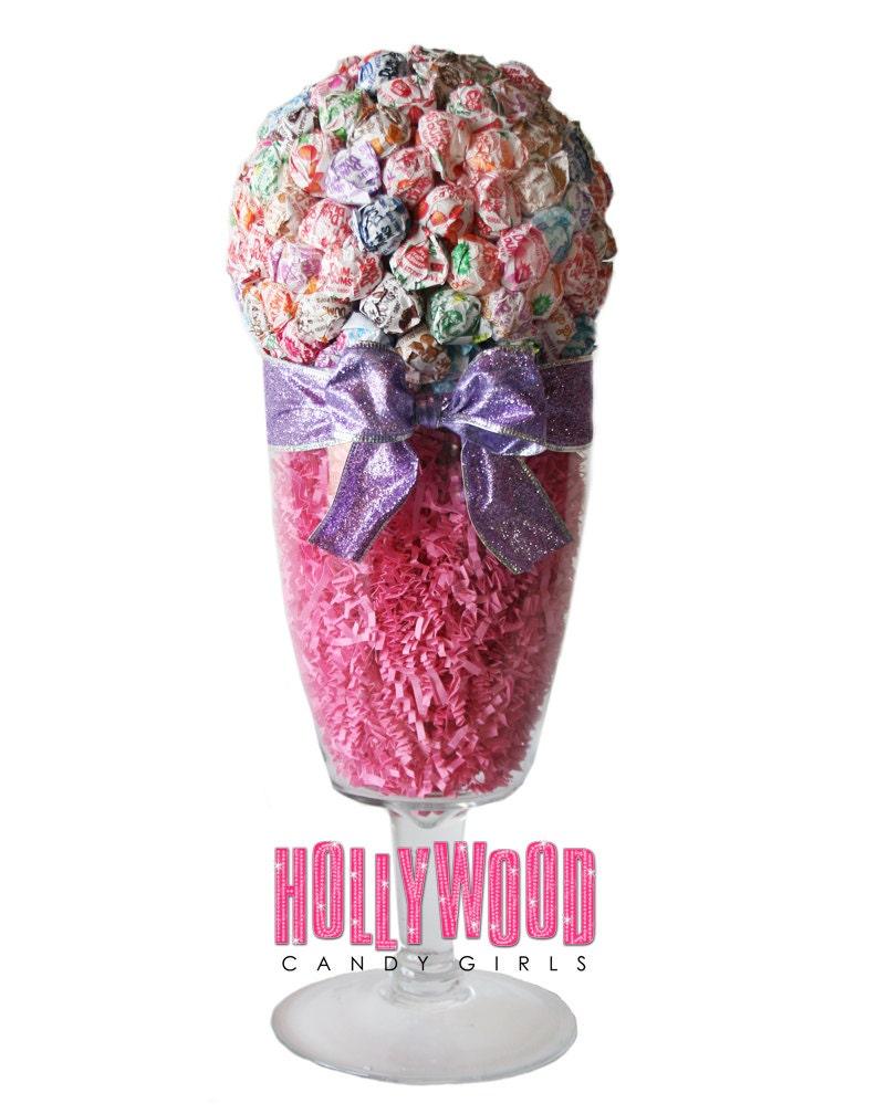 Dum lollipop sucker candy land centerpiece vase