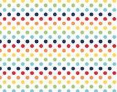 Small Dots Rainbow Riley Blake - 1 One Yard Cut.