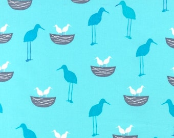 Perfectly Perched by Laurie Wisbrun for Robert Kaufman: Baby Birdies in Celebration AWN-12849-203 1 Yard Cut