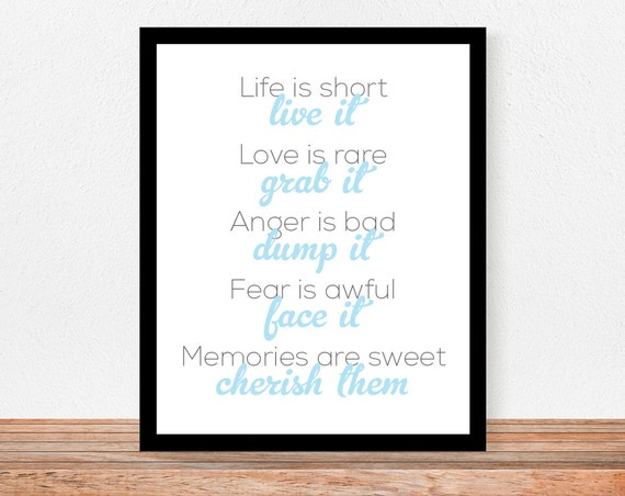 "Life Is Short Live It - 8"" x 10"" Print"