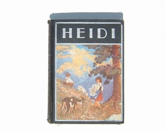 1921 HEIDI by Johanna Spyri Hard Cover The Windermere Series Book with  highly collectible Illustrations by Maginel Wright Enright