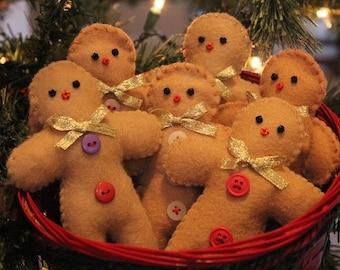 Gingerbread Men Doll Bowlfillers, Handmade Christmas decor, Felt Gingerbread men, Country christmas, Gingerbread men dolls, kitchen gifts
