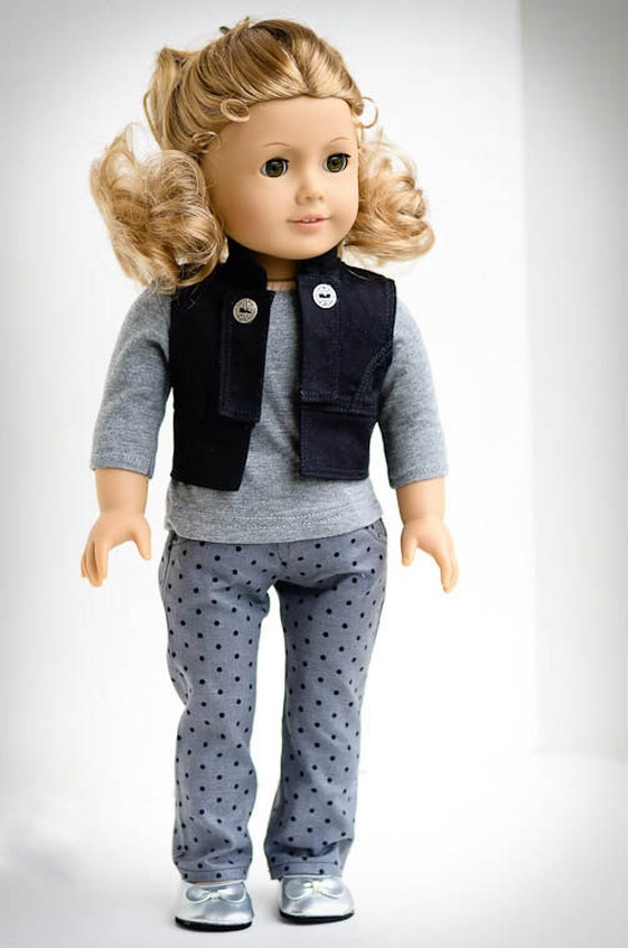 MARK DOWN 30%  American Girl Classic Fall Vest, Shirt and Jeans