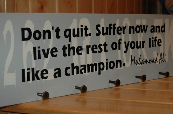 items similar to marathon medals sign with a motivational