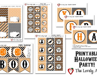 Printable Halloween Party Package