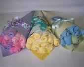 FREE SHIPPING, Neutral, Boy, Girl  Bouquet Of Washcloth Flowers