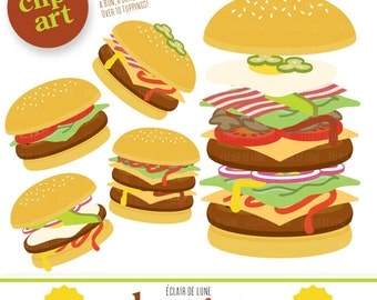 Burger Clip Art Food Clipart Hamburger