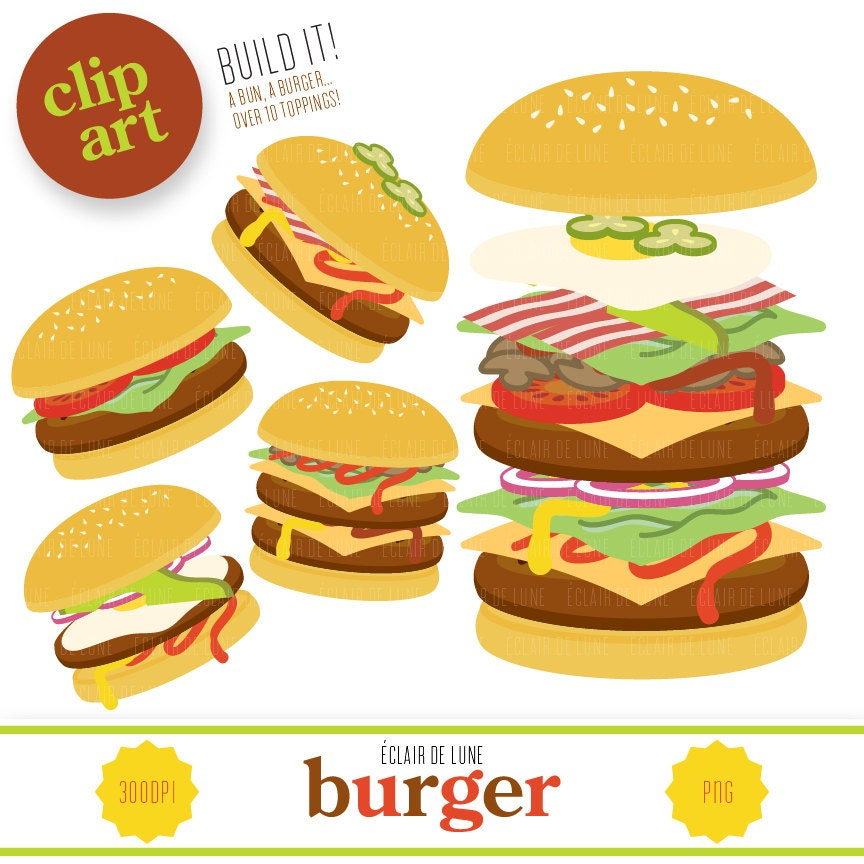 Burger clip art food clipart hamburger for Hamburger clipart